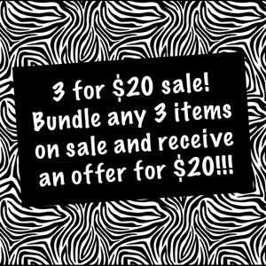 Bundle any 3 items marked on sale